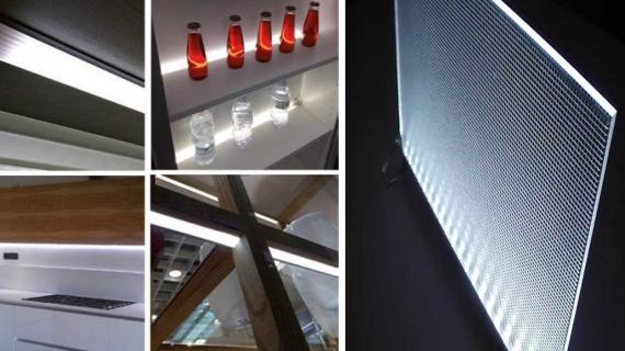 Difusores de luz Led: ideal para la iluminación de muebles de cocina y baño